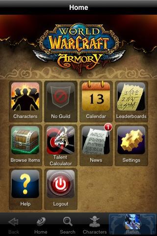 World of Warcraft Armory