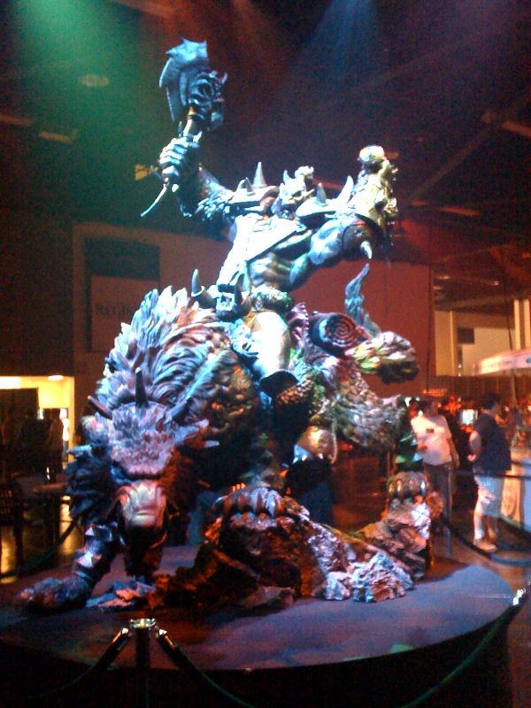 Picture of statue from Blizzard's Irvine Campus!