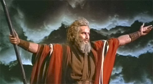 Like I was going to have a post about Moses parting the Red Sea and not include Mr. Charlton Heston.