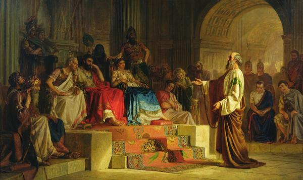 Apostle Paul On Trial by Nikolai Bodarevsky, 1875.