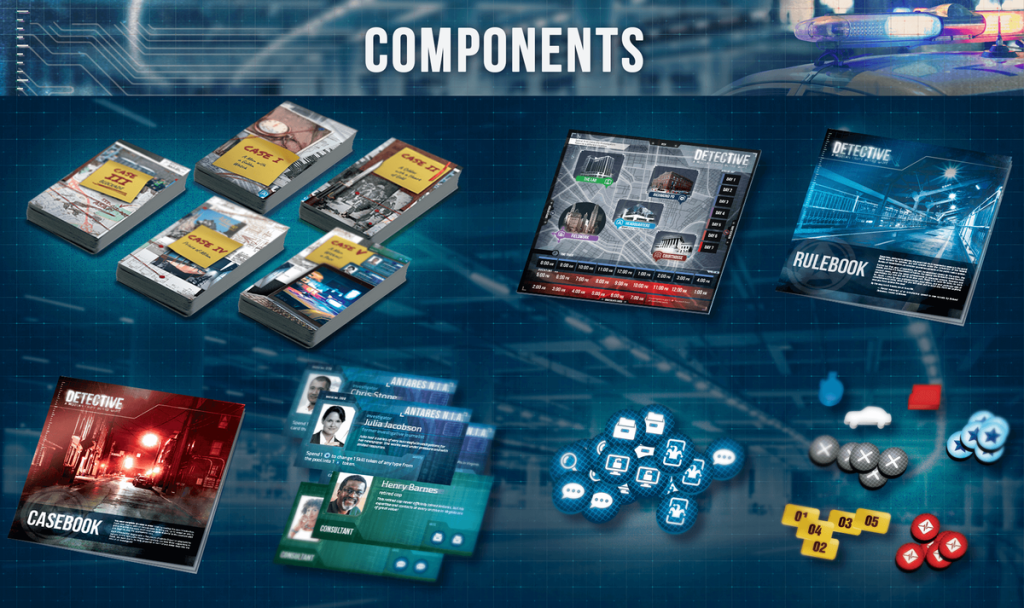 Detective game components