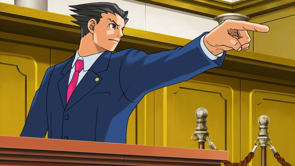 Phoenix Wright, doing his thing.